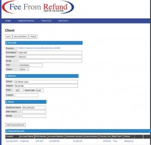 Fee From Refund Client's Details